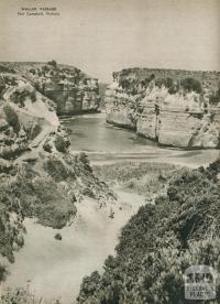 Walled passage, Port Campbell, 1954
