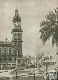 The Golden city, Post Office and Pall Mall, Bendigo, 1954