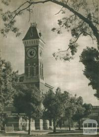 Post Office tower, Shepparton, 1954