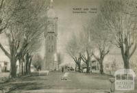 Turret and trees, Camperdown, 1954