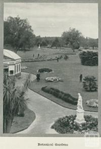 Botanical gardens, Ballarat, 1918