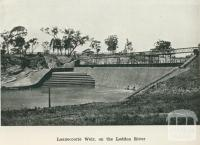 Laanecoorie Weir on the Loddon River, 1918