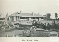 Dr Wight's, Kyabram, the first year, 1918