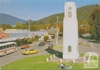 Memorial Clock Tower, Bright