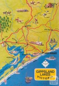 Map of Gippsland Lakes