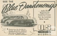 Blue Dandenongs Motor Coach Tour, The Dandenongs, 1947-48