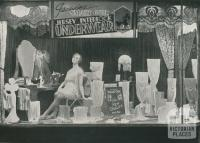 Lingerie window, Coles, Brunswick, 1933