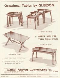 Gleeson Furniture Manufacturing, Richmond, 1956
