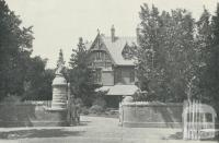 Tara Hall, mansion home in Studley Park Road, Kew, demolished 1960