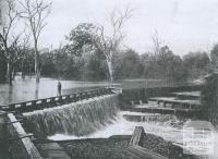 Glenorchy weir, Wimmera River, Gelnorchy, 1903