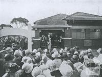 Opening of Thornbury Baby Health Centre, 1927