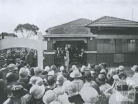 Opening of Thornbury Baby Health Centre, 1927