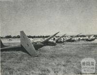 Sail Planes, Benalla Aerodrome, 1960