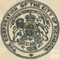 The City of Richmond Crest, 1918