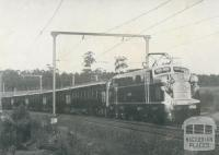 L Class Electric Locomotive, Warragul, 1954