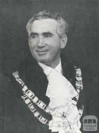 Portrait of first foreign born mayor, Salvatore Gandolfo, Coburg, 1969