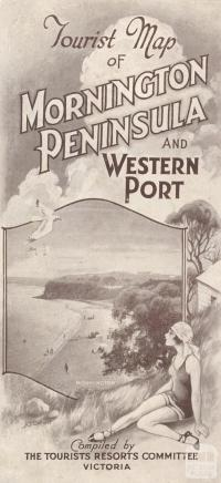 Tourist Map of Mornington Peninsula and Western Port, 1929