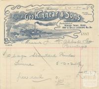 Geo Kinnear & Sons, Footscray, 1908
