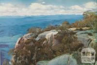 Panorama from Echo Point, looking across the Buckland Valley, c1960