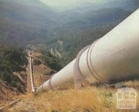 Large pipeline that serves McKay Creek power station, Kiewa, 1971