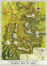 Map Kiewa Hydro Electric Scheme, 1971