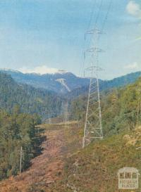 Powerline from McKay Creek Station, 1971
