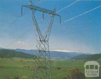 330, 000 volt power line from the Snowy scheme, 1971
