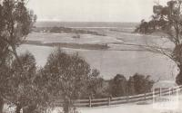 Ocean and lake from the Princes Highway, Lakes Entrance, 1934