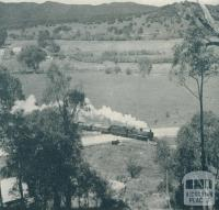 Train transportation Myrtleford, 1951