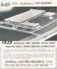 General Motor-Holden's Ltd, Fishermans Bend, 1939