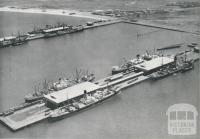 Aerial view of Station and Princes Piers, Port Melbourne, 1939