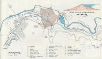 Locality plan of the dam, showing layout of construction roads and township, Upper Yarra Dam, 1954