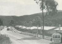 Houses erected for workers employed at the dam, Upper Yarra Dam, 1954