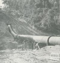 The Upper Yarra-Silvan Conduit, Upper Yarra Dam, 1954