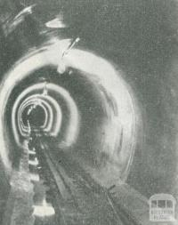Concrete Tunnel at Mount Little Joe, Upper Yarra Dam, 1954