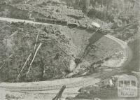 Horse Shoe Bend, Moe-Walhalla Railway, Walhalla, c1910