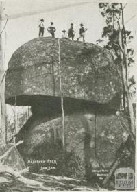 Mushroom Rock, Baw Baw, c1910