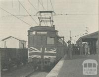 First Electric train at Glen Waverley, 1930