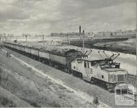 Transport of overburden for disposal - Morwell open cut, 1959