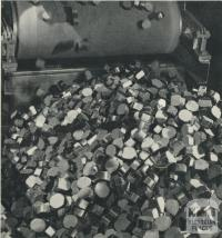 Loading briquettes for despatch, Morwell, 1959