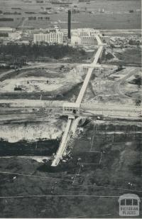 Coal conveyor system from the Morwell open cut, 1959
