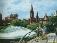 Southgate Fountain and Melbourne Skyline, c1958