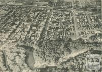 Aerial view of Shepparton, c1937