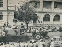 A Float in Wheat, Oats and Wool Festival Procession, Horsham, 1960