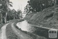 O'Shannassy Aqueduct, Wesburn, 1956