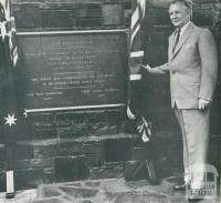 Opening of the Upper Yarra Reservoir, 1958