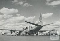Vikers Viscount airliner, Essendon North, 1958