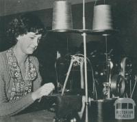 Clothing manufacture, Korumburra, 1955
