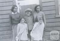 Author Robert Lowe, with Elma Roach, Eileen Austin and sister Judy, Framlingham, c1955