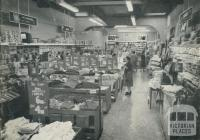 Interior of the  Hattam & Co, 104 Glenferrie Road, Malvern, 1963